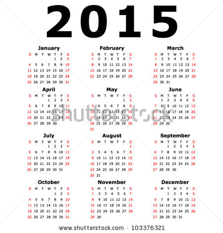 Simple Calendar Template 2015 from latestcalendar.weebly.com